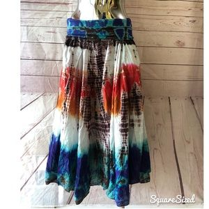 Romeo & Juliet Couture tie dyed maxi skirt